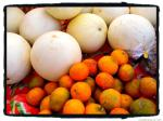 melons and tangerines